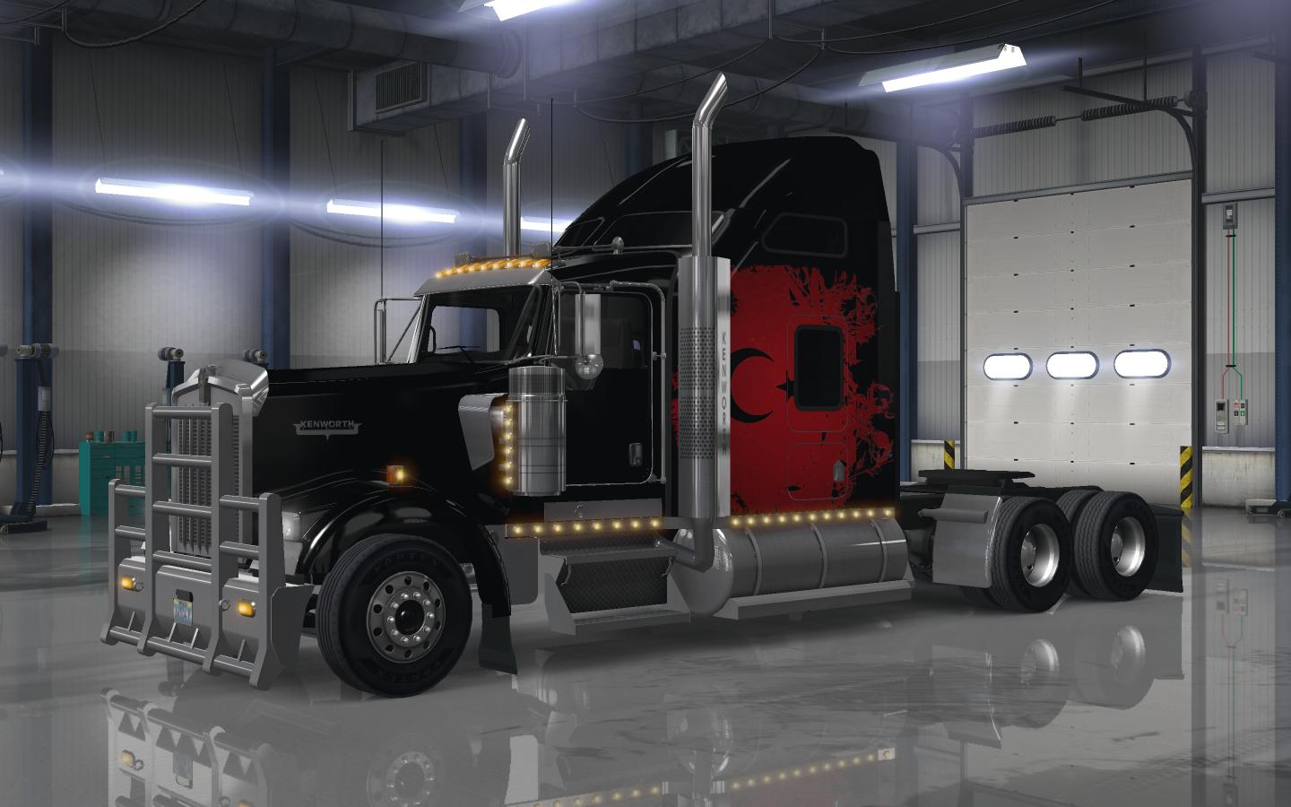 Turkish power w900 american truck simulator mods ats mods for Howell s motor freight