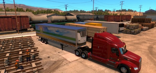 American Truck Simulator Gameplay with 4 monitors