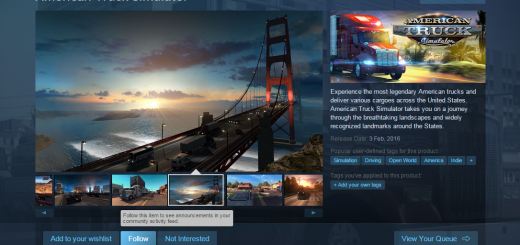 American Truck Simulator cooperation with Steam